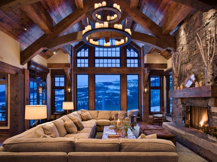 Spacious, but cozy cabins in Big Sky Montana.Cabin, Living Rooms, Couch, Livingroom, The View, Dreams House, Family Rooms, Families Room, Dreams Living Room