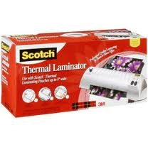 Scotch Laminator.. a gift from my mom :)    I love to decorate for christmas and one of my favorite things to do is put up the kids' christmas artwork, old chrismas cards, little paper santas and stuff they colored/made in school..  anyhow, every year im holding my breath putting them up and taking them down hoping they wont fade, rip, etc.  TADA! now they wont!.  i cant even imagine how many refill pouches im going to go through using this thing!