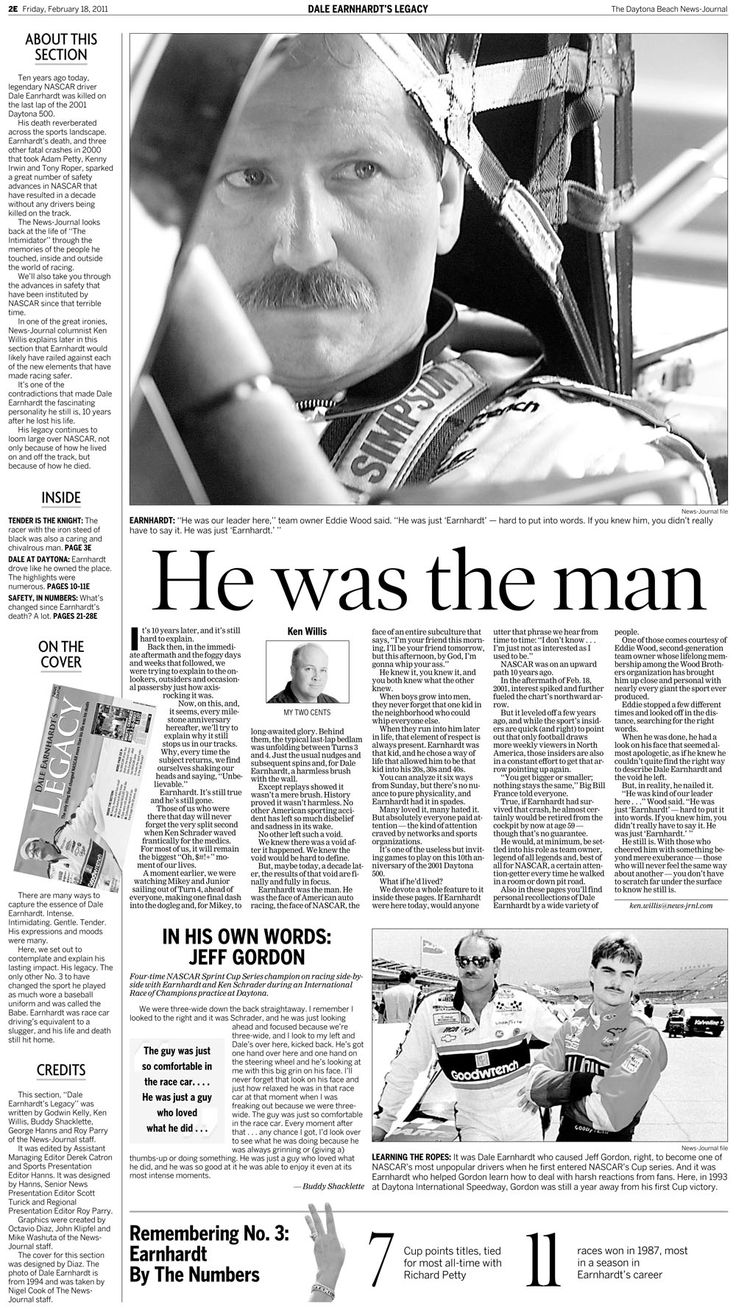 dale earnhardt funeral | look at Daytona Beach's Dale Earnhardt memorial special section