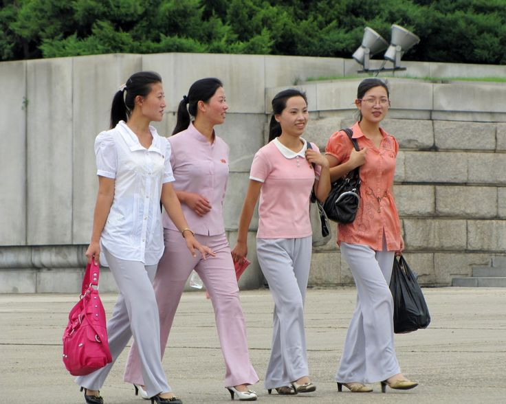 north korean women shopping not all drab like the west