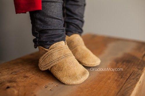 Beige Suede Lumberjack Shoes