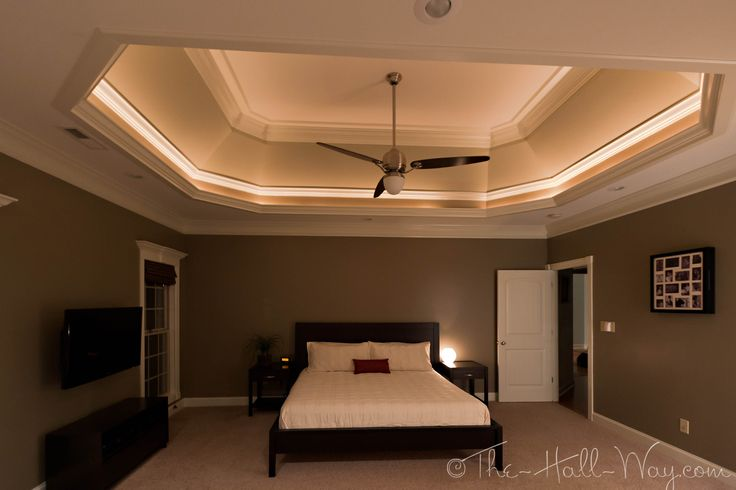 Tray+Ceiling+Design+Ideas | ... family room and master bedroom had rope lights in the tray ceilings