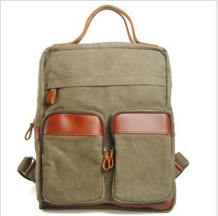 CANVAS bag BACKPACK Superior Genuine Cow Leather Briefcase / Messenger bag / Laptop bag / Men's leather Bag(m829-3) · sean vintage handmade bags · Online Store Powered by Storenvy
