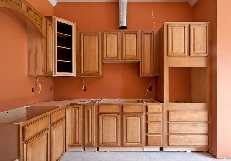 Anyone have an orange or burnt orange dining room burnt for Burnt orange kitchen cabinets