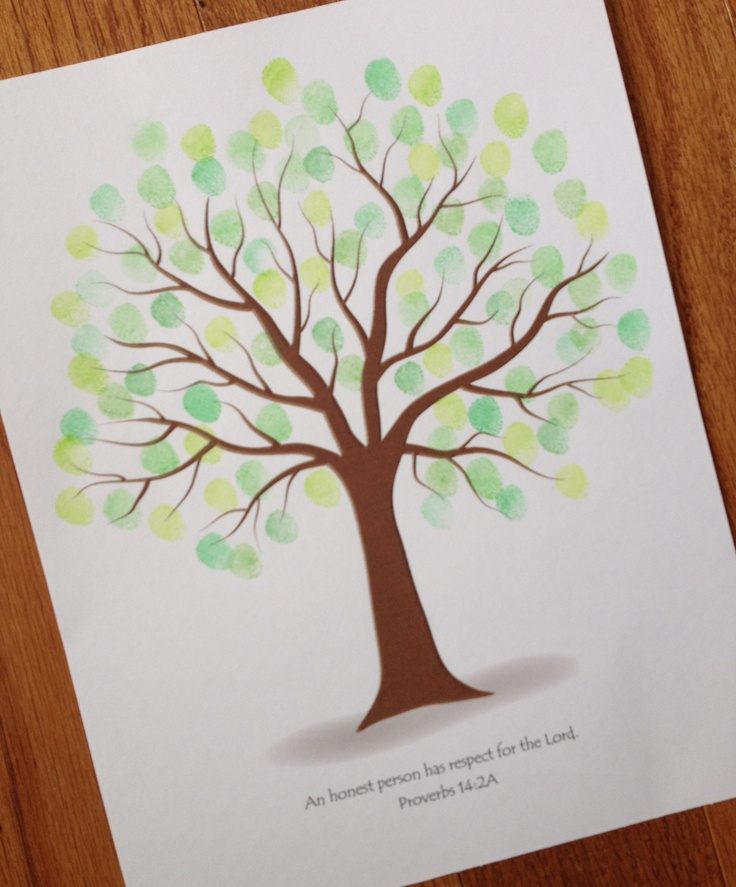 end of year gift customizable fingerprint memory tree template seasons craft to be app and