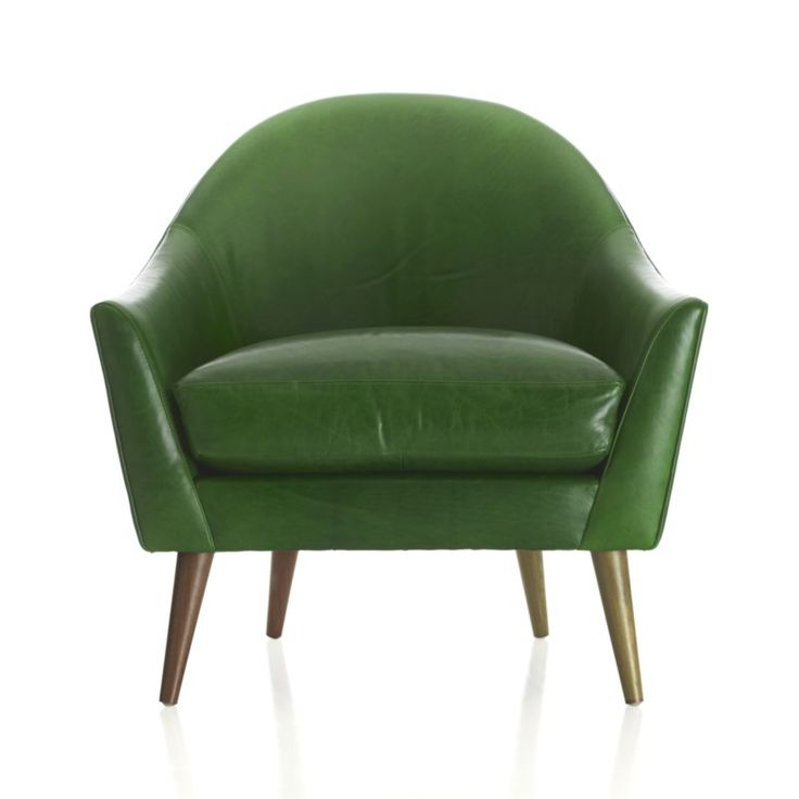 Bryce Chair    Crate and Barrel Love the green and mid-century look