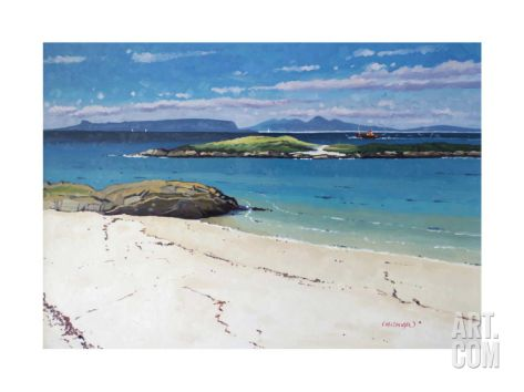 Eigg and Rum From Arisaig Limited Edition by Frank Colclough at Art.com