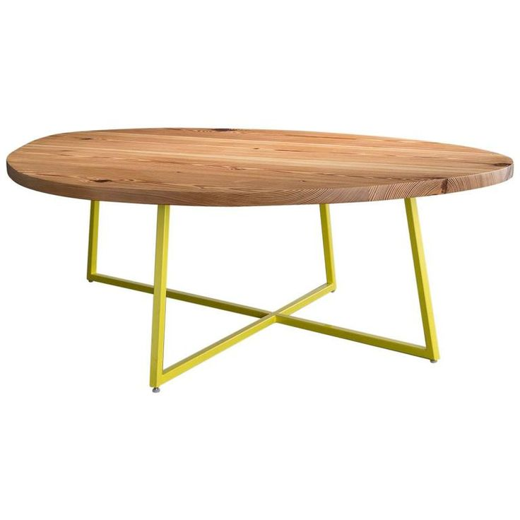 Noguchoff Coffee Table, Reclaimed Pine Powder Coated Steel
