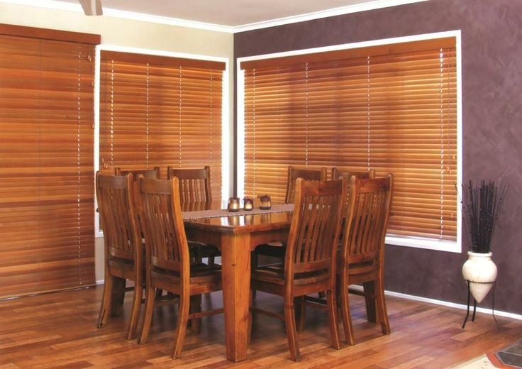 Cedar Venetians - beautiful, natural, lightweight. If you want timber, cedar is the best option.