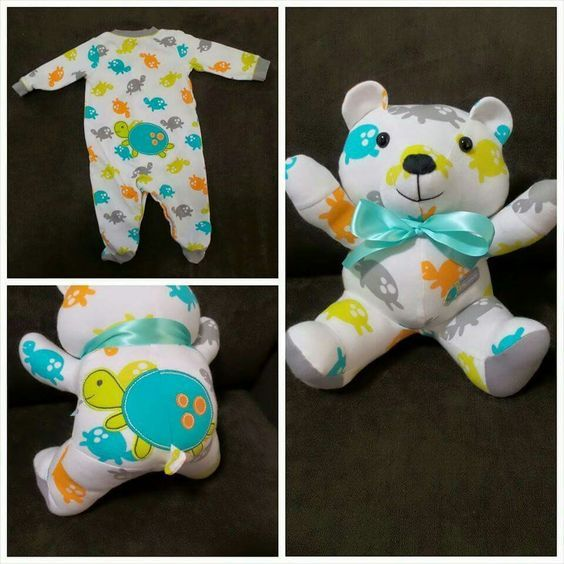 "Turning baby clothes into ""memory bears"".   This is freaking brilliant."