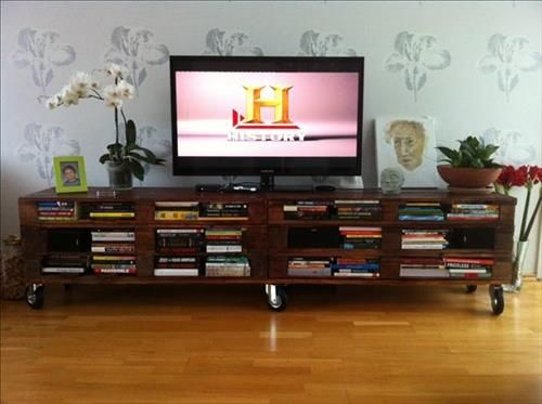 Image result for wood pallet entertainment center