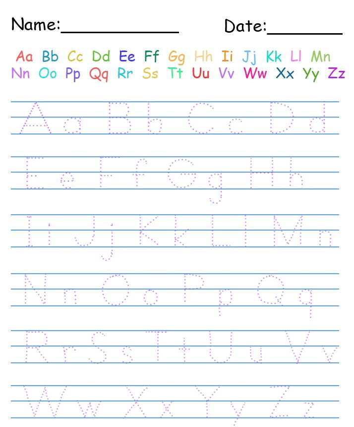 handwriting name worksheets for preschoolers