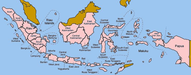 Map of Indonesia and Islands