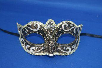 Schwarz Silber Bronze und Gold venezianische Maskerade Party Karneval Maske: Amazon.de: Spielzeug