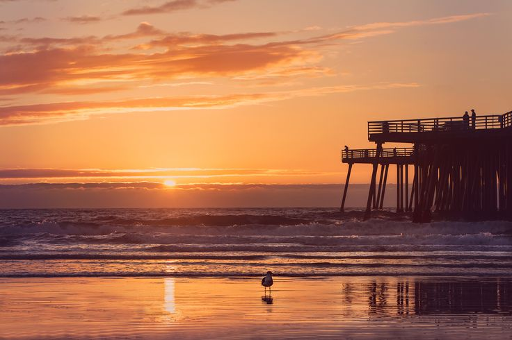 Picture of the pier at sunset in Pismo Beach, California. Pismo must do's!