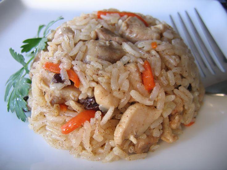 Uzbek Pilaf with Chicken – Tavuklu Özbek Pilavı