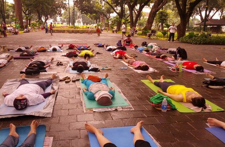 Savasana (better known as corpse pose) is designed to give your body and mind the opportunity to relax and recover from the daily stress.