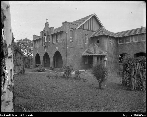 Foster, A. G. (Arthur G.)  Unidentified convent school, Sydney [picture]  [1920-ca. 1945] 1 negative : glass, b ; 16.4 x 21.4 cm.  Part of Collection of photographs of Sydney [picture]  From National Library of Australia collection  http://nla.gov.au/nla.pic-vn3104034  nla.pic-vn3104034