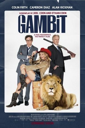 Gambit - this film has an amazing cast including Cameron Diaz, Colin Firth, Alan Rickman and Stanley Tucci. The other reason this will be a must-see film is that it was written by the Coen brothers.