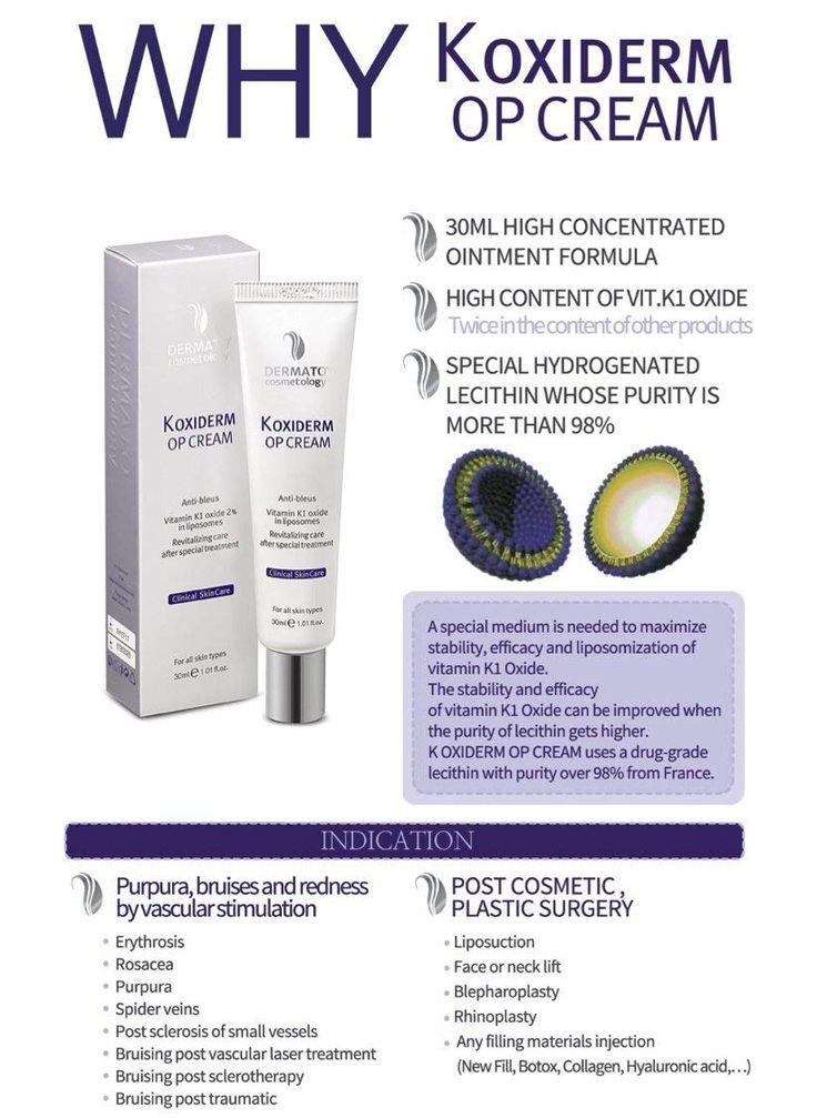 Op Vitamin K Cream lightens skin discolorations and ...
