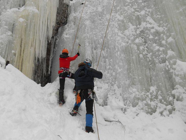 départ escalade de glace