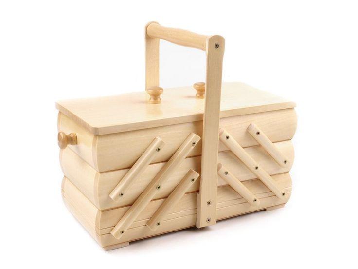 Košík na šití rozkládací malý | STOKLASA textilní galanterie