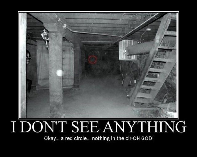 YEAH! I ALMOST PEED MY PANTS I HAVE NEVER SEEN SUCH A SCARY RED CIRCLE!!!! :-0 I didn't see anything inside of it