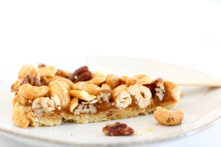 Salted caramel notentaart