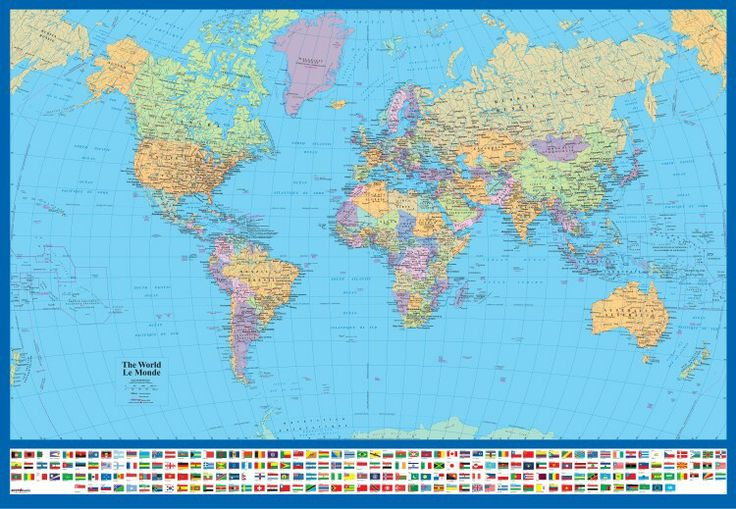 World Maps and Flags.