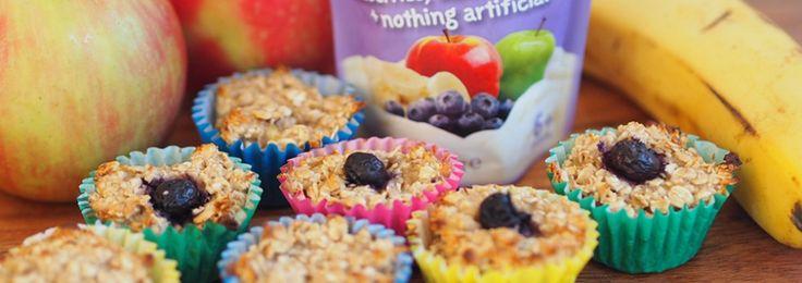 Oaty Yoghurt Blueberry, Banana and Apple Mini Muffins Recipe