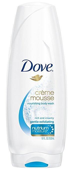 Dove, Nourishing Body Wash, Creme Mousse, Gentle Exfoliating, 18 ounce