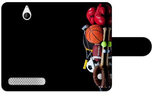 Sony Xperia E1 Uniek Ontworpen Design Hoesje Sport  Sony Xperia E1 uniek design boekhoesje met opbergvakjes. Door dit beschermhoesje heb je geen krassen deukjes of andere mogelijke beschadigingen aan je telefoon. Het hoesje is gemaakt van hoge kwaliteit PU-leder en heeft een plastic case. Deze case is speciaal voor de Xperia E1 gemaakt zodat je toestel er veilig en stevig in past. In de case zijn uitsparingen gemaakt zodat alle knoppen en poorten van je telefoon altijd te gebruiken blijven…