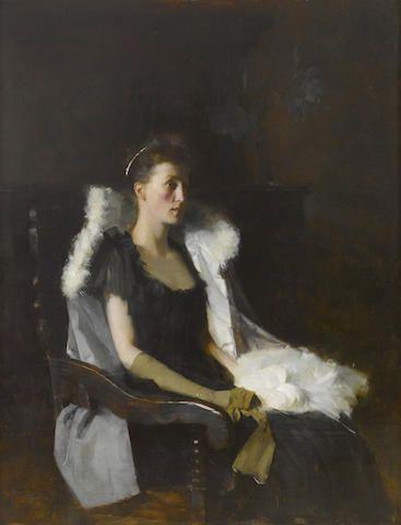 Frank Bramley R A British 1857 1915 Portrait Of Ethel