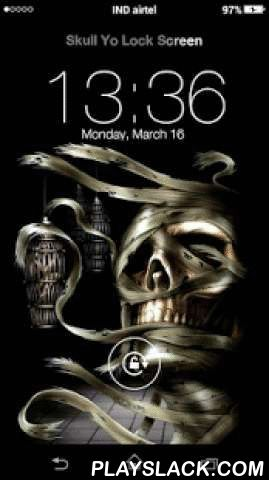 Skull Yo Locker HD  Android App - playslack.com ,  Skull Yo Locker HD, You can use it as My Name Screen Lock. It means you can write your own name over the lock screen