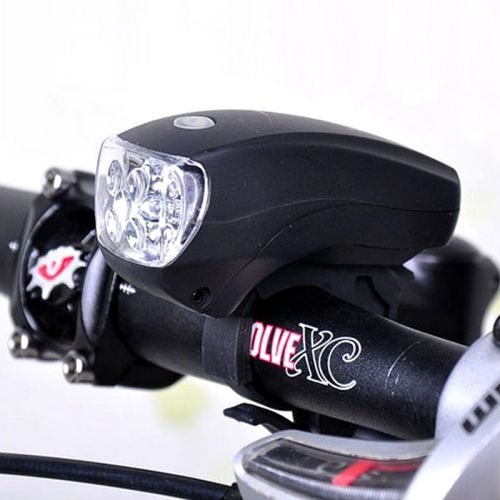 [USD2.22] [EUR1.99] [GBP1.60] 5 LED Super Bright Bicycle Headlight With Stand & Three kinds of Flashing Modes(Black)