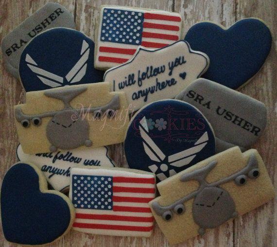 Air Force Wedding Ideas: Air Force Cookies Wedding Love