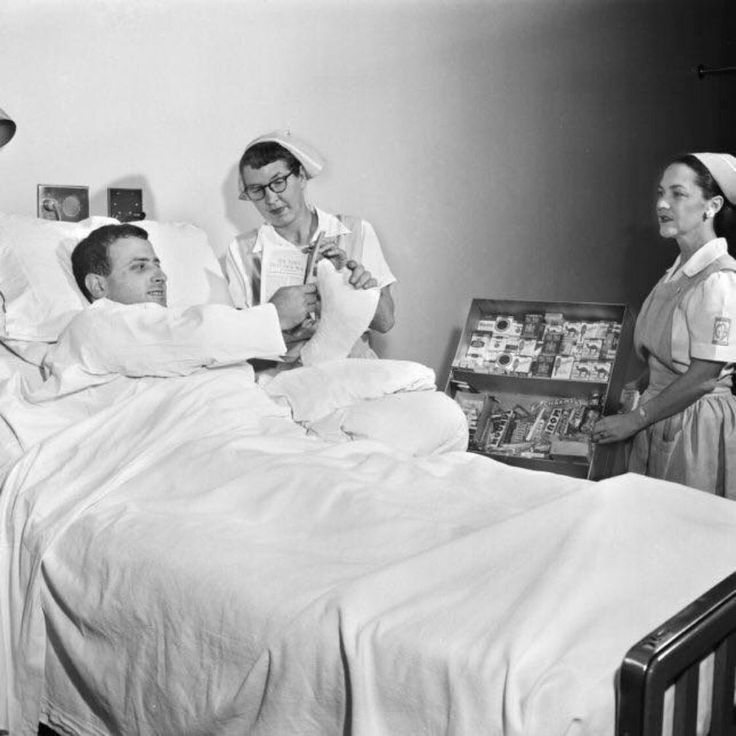 In 1957, in a British hospital you could buy cigarettes from your bed.