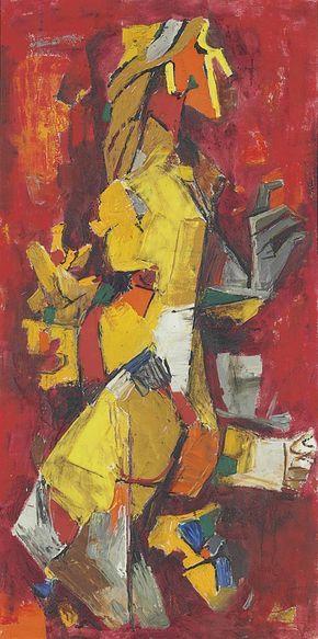 Maqbool Fida Husain (1913-2011) Naika (Nritya)