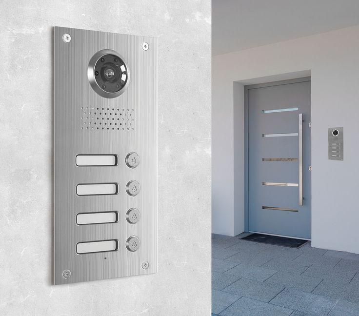 Die Neostar BMV-T2404W mit 130° und 700TVL ist eine Unterputz-Türstation für 4-Familienhaushalte. Die Türstation überzeugt durch modernes Design und eine enorme Funktionsvielfalt mit höchstem Bedienkomfort. Die edle Verarbeitung aus gebürstetem Edelstahl sorgt nicht nur für optisch ansprechendes Aussehen, sondern auch für Beständigkeit und Resistenzfähigkeit sogar gegen widrige Wetterbedingungen, dank der Schutzklasse IP54.