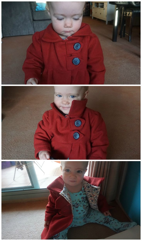 Winter jacket for Elena. I used the Abbey jacket pattern from Schwin & Shwin.