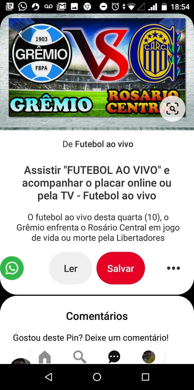 Pin De Marlon Kielek Em Gremio Football Jogo De Vida Gremio Rosario Central