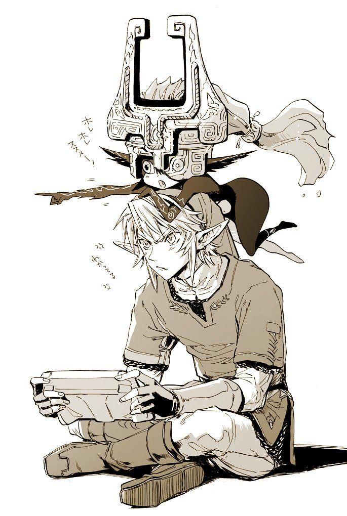 Moi en train de jouer à Zelda avec ma pote loul