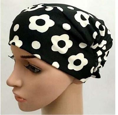 Women Bonnet underscarf chemo inner hijab cap  tube bone bandana yoga hair loss