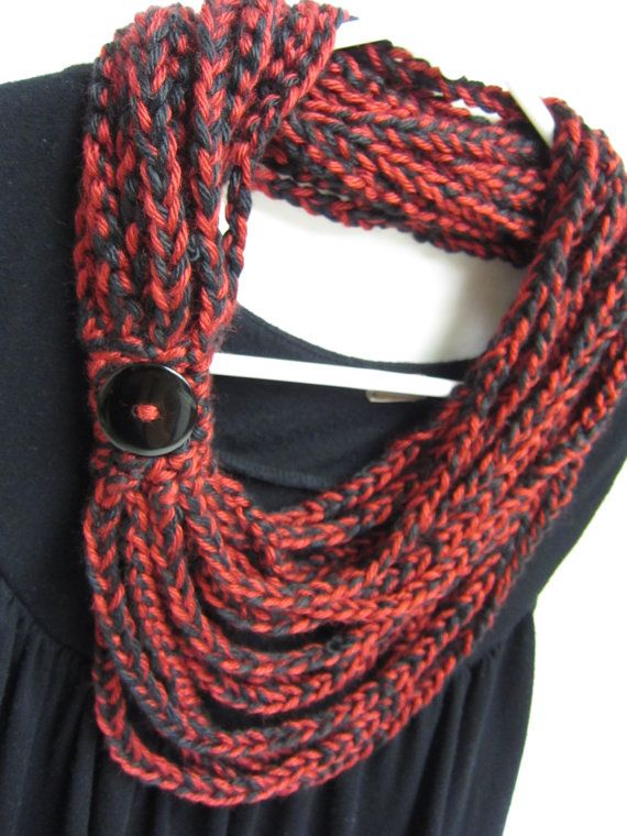 crochet chain scarf necklace scarf scarflette by RockinLola