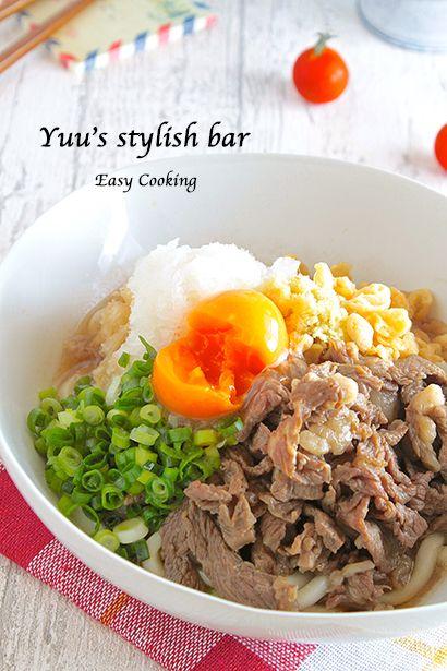 流行りの「肉×麺」!栄養満点♡ぶっかけ肉うどん