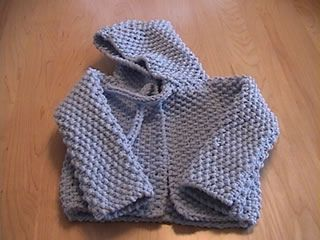 Fran's Hooded Baby Sweater AKA the Diaper Bag Sweater