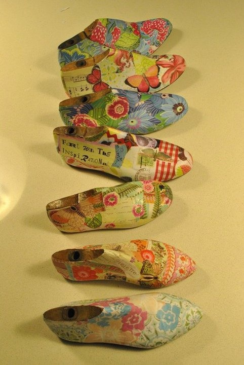 Decorated shoe forms (lasts)