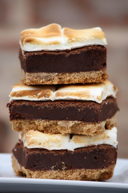 mores brownie bars | Recipes | Pinterest