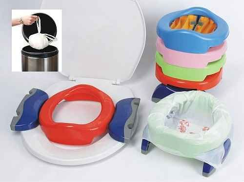 The Potette Portable Potty and Trainer takes the stress out of going into public with a recently potty-trained child.