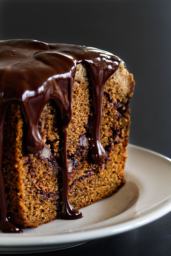 Mocha Coffee Cake is swirled with chocolate and topped with an espresso crumb topping. The Kahlua ganache makes it absolutely irresistible.